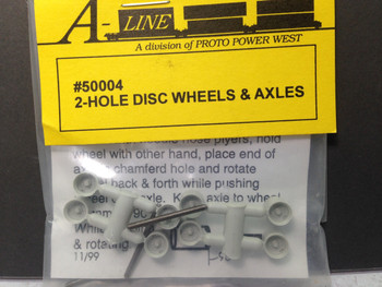 HO 1/87 A-Line # 50004 - 2-Hole Disc Trailer Wheels & Axles