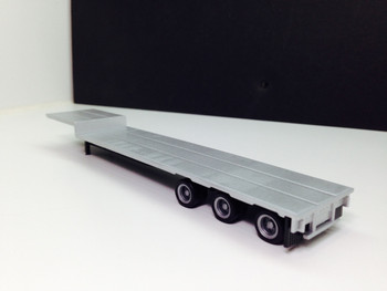 HO 1:87 Promotex # 5332  -  3-axle drop deck flatbed semi trailer