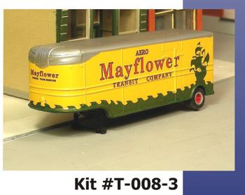 HO 1:87 Sylvan T-008-3 - 32' Fruehauf MAYFLOWER MOVING VAN Trailer - 47-55 KIT