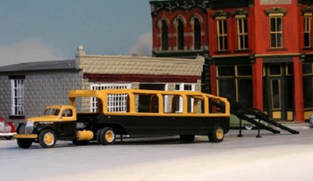 HO 1:87 Sylvan T-015 - 1946 Whitehead & Kales Car Carrier Trailer ONLY KIT