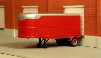 HO 1:87 Sylvan T-017 - 1936 Fruehauf 22' Van Undecorated Trailer KIT
