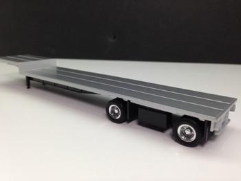HO 1/87 Promotex # 5455 - 2 axle dropdeck trailer w/ low-profile chrome wheels