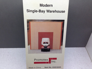 HO 1:87 Promotex # 6322 Warehouse Single-Bay Building Kit - Sand Color