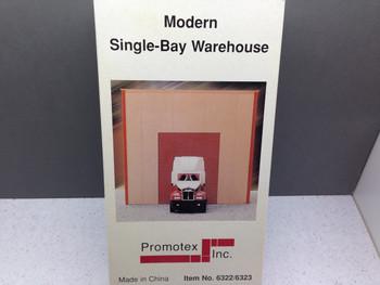 HO 1:87 Promotex # 6322 Warehouse Single-Bay Building Kit - Sand Color