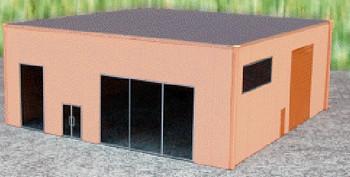 HO 1/87 Promotex # 6326 Modern Dealership Tilt-up Building Kit – Sand