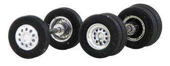 HO 1:87 Promotex # 5426 Truck Tires/Wheels, Chrome, 4 Dual Rear, 2 Front 12.5mm