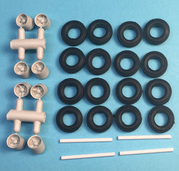 HO 1:87 A-Line # 50103 Van Upgrade Kit - Spoke Wheels