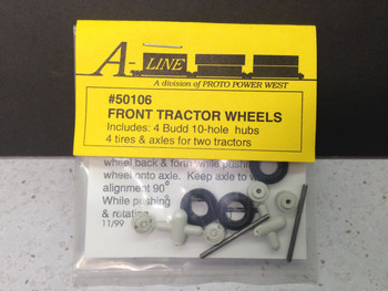 HO 1/87 A-Line # 50106 10-Hole Tractor Front Wheels
