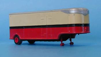 HO 1:87 Sylvan T-008 - 32' Fruehauf Aerovan Drop Deck Trailer - 1947 KIT