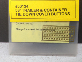HO 1/87 A-Line # 50134  Tie Down Cover Buttons - Brass