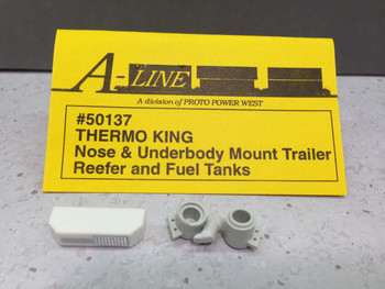 HO 1/87 A-Line # 50137 Thermo King Nose & Underbody Mount Trailer Reefer & Fuel