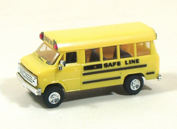 HO 1/87 Trident # 90076 Chevy School Bus - Yellow Safe Line