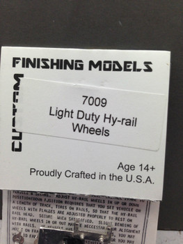 HO 1/87 Custom Finishing # 7009 Light Duty Hi-Rail Guide Wheels KIT (1 set)