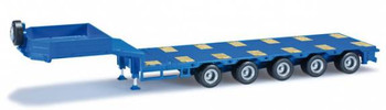HO 1/87 Herpa # 76388-006 - Goldhofer 5-Axle Drop Deck Low-Boy Trailer - Blue