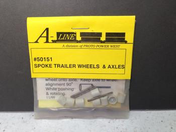 HO 1/87 A-Line # 50151 Spoke Trailer Wheels & Axles