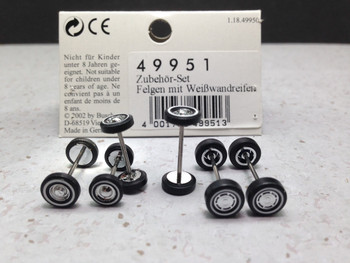 HO 1:87 Busch # 49951 Modern Auto Tires/Wheels 6 wheel sets