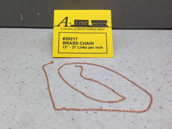 HO 1:87 A-Line # 29217 Brass Chain 12'' - 27 Links per inch