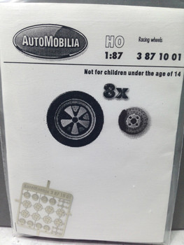 HO 1:87 AutoMobilia DE # 3871001  Racing Wheels Type 10 (8)  Detail Parts