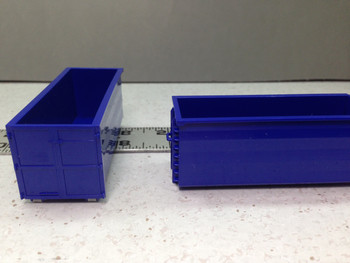 HO 1:87 Herpa # 53082-004 Roll-off Containers - Blue - 2 pcs.