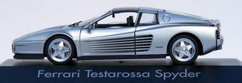 Herpa # 10344 Ferrari Testarossa Spyder Automobile - 1:43 Scale - Silver