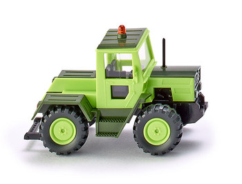 HO 1/87 Wiking # 38599 Mercedes Benz Trac 99 Farm Tractor - 1975 - Green/Black
