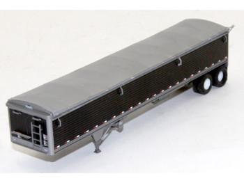 HO 1/87 Lonestar # 6031 Wilson 43' Grain Trailer KIT Black Panels w/Silver Tarp