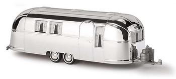 HO 1:87 Busch # 44982 - 1958 - 2-Axle Airstream  Caravan Trailer - Chrome