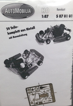 HO 1:87 AutoMobilia DE # 5870101 Kart Racing KIT