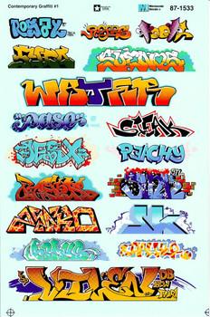 HO 1:87 Microscale 87-1533 Contemporary Graffiti #1 Decals