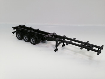 HO 1:87 Promotex # 5316  -  48' - 3 axle Container Chassis  - Black