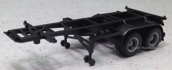 HO 1:87 Promotex # 5440  -  20' - 2 axle Container Chassis  - Black