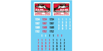 HO 1:87 Lonestar # 12025 Decal Set for Melton Trucking