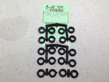 1:87 Alloy Forms # 3061 Large Truck Tires only (20pcs.) 11.5mm diameter