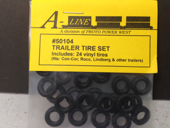 HO 1:87 A-Line # 50104 - Vinyl Truck Tires - Soft (24 pcs.) 12.35mm