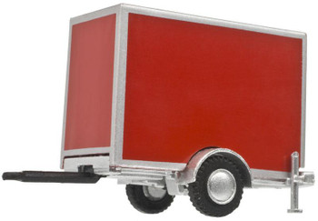 HO 1:87 Atlas 60000100 Single Axle Box Trailer - Red