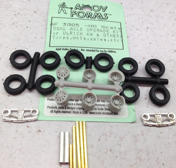 HO 1:87 Alloy Forms # 3005 Ulrich-Kenworth Dual Axle Upgrade KIT Wheels,Tires