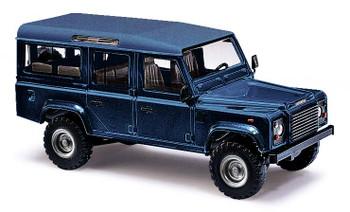 HO 1:87 Busch # 50352 - 1983 Land Rover Defender SUV - Metallic Blue