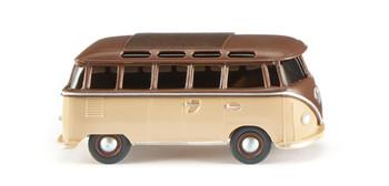 HO 1:87 Wiking WI-31705 - 1963 Volkswagen T1 Samba Van w/ Skylights - Brown, Beige
