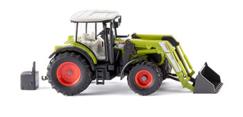 HO 1:87 Wiking # 36311 Claas Arion 630 Farm Tractor w/Front End Loader - Green/White
