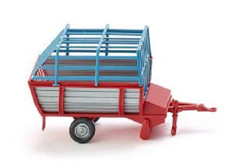 HO 1:87 Wiking # 38101 - Hay Cart/Wagon - Red/Silver/Blue