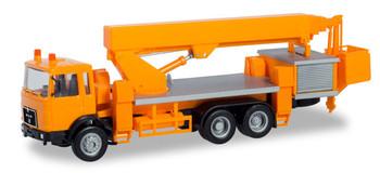 HO 1:87 Herpa # 310932 -MAN F8 Tandem-Axle Truck w/Boom Structure & Bucket