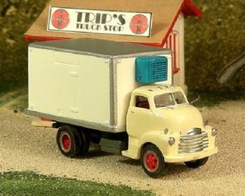 HO 1:87 Sylvan # V-312 -1948-53 Chevy COE Refrigerated Box Truck KIT w/Reefer