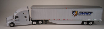 HO 1:87 TNS-138 Kenworth T-680 Sleeper Tractor w/53' Dry Van Swift Trans.