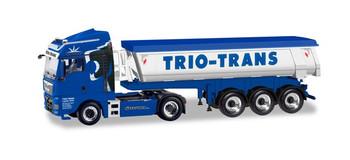 HO 1:87 Herpa # 310673 MAN TGX Dump Semi Truck & Trailer  Trio Trans
