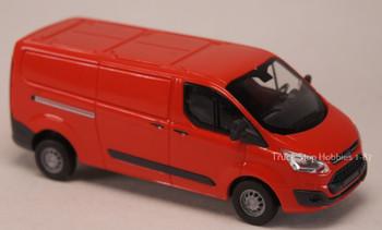 HO 1:87 Busch # 52400 - 2012 Ford Custom Kasten Van - Red