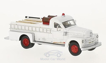 HO 1:87 BOS 87506 - 1958 Seagrave 750 Fire Engine Pumper, White