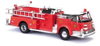 HO 1:87 Busch # 46030 - 1968 American-LaFrance Fire Pumper w/Open Cab