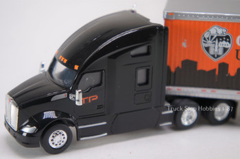HO 1:87 TNS-58122 Trucks n' Stuff Kenworth T680 w/53' Dry Van Timber Products