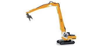 HO 1:87 Herpa # 152006 Liebherr Litronic R954:  Excavator w/90' Long Wrecking Boom