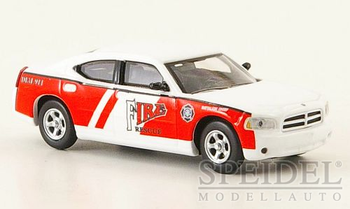 HO 1:87 Ricko # 38168 - Dodge Charger, Fire Rescue Battalion Chief White/Red